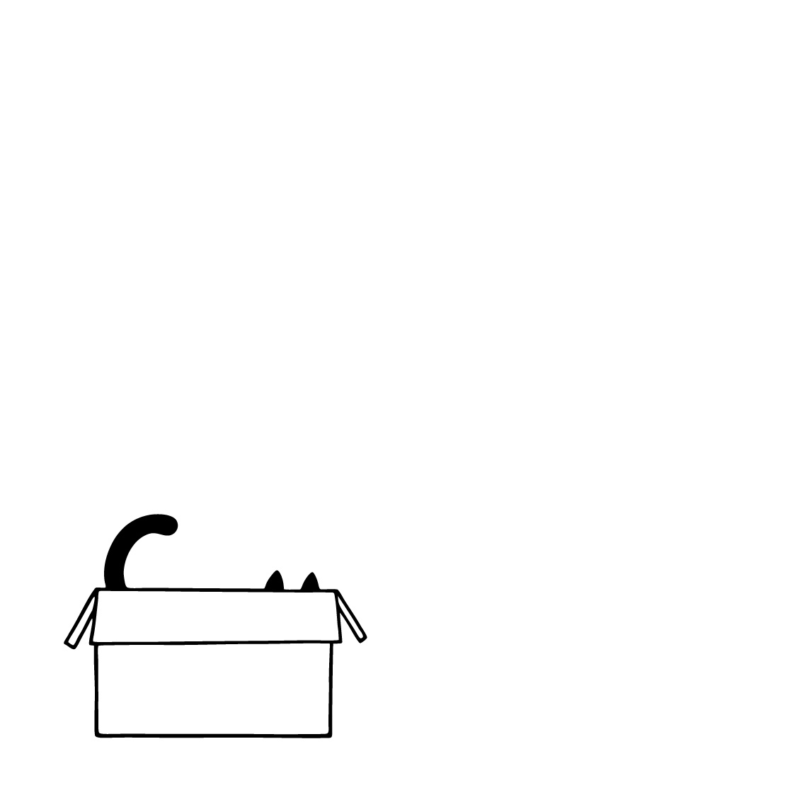 Box Cat Illustration