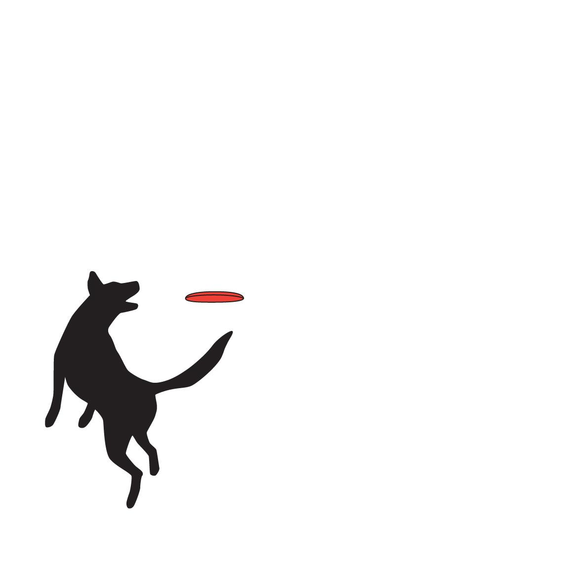 Frisbee Dog Illustration