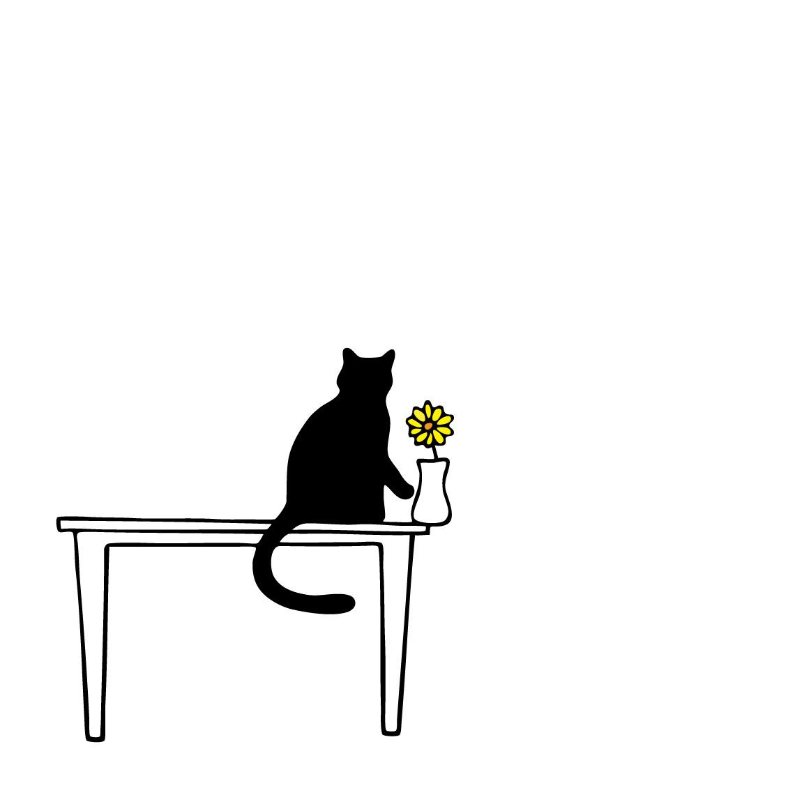 Vase Cat Illustration